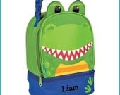 Personalized Dino Dinosaur, Lunchbox, School, Lunch Sac, Personalized Lunchbox, Kids Lunchbox, Lunch Box, Lunch Pal,