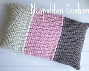 CROCHET PATTERN - Neopolitan Cushion Cover