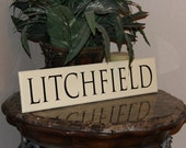 Family Name Sign - Antique White and Black - Customize your name, date, or colors!