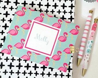 Flamingo Note Cards, Flamingo Stationery, Flamingo, Monogrammed Stationery, Personalized Note Cards, Personalized Stationery, Notecards
