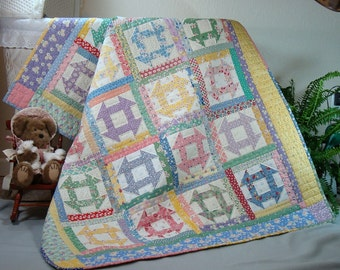 Churn Dash Quilt Pattern PDF #401e