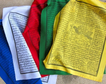 Extra Large Set of 5 Prayer Flags