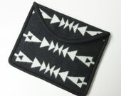 iPad Cover Case iPad Sleeve Padded Wool Tribal Inspired Arrows Black White