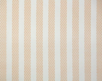 1940s Vintage Wallpaper Orange and White Stripe