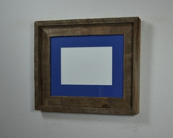 Photo frame 8x10 with 8x6 or 5x7 mat and beautiful natural weathering