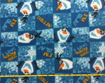 New Olaf  polar fleece fabric 1 YD