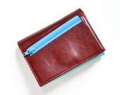 Women's Leather Wallet, Wallet with Coin Pocket, Trifold Wallet, Personalized Small Womens Wallet, The Frances Wallet in Oxblood Red