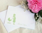 Custom Maternity Cards - Mom To Be - Thank You Cards  - Choose  Color