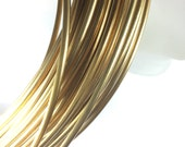 Half Round 6 gauge Red Brass Wire, 10 ft.  great for cuffs,  bangles, see examples