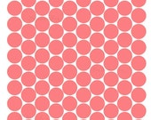 Coral Color Circle Dot Shaped Wall Decals Peel and Stick 100 Wall Stickers Coral Nursery Kid Room Decor Random Dots Create Pattern Reusable