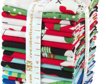 SALE 20 Fat Eighths 1/8 - JINGLE fabric bundle Robert Kaufman by Ann Kelle