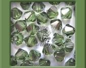 Clearance 100 pcs Swarovski Crystal 5301/5328 4mm Crystal Peridot Satin Bicone Beads Wholesale