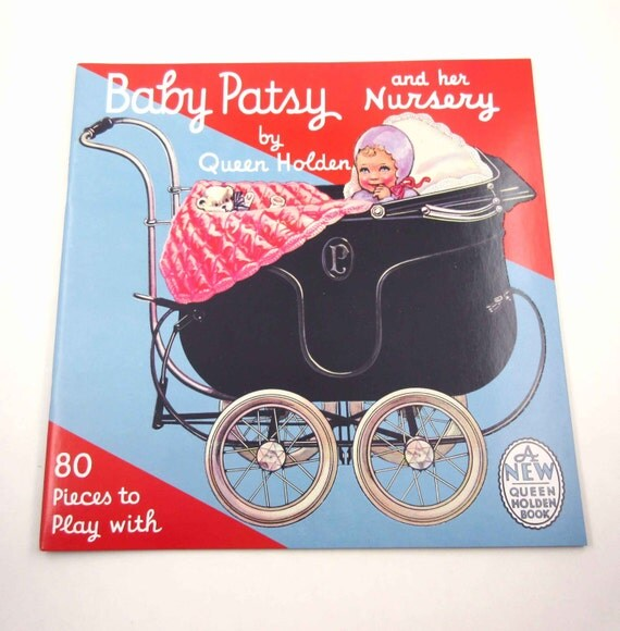 Baby Patsy and Her Nursery Vintage Style Paper Dolls Book for Children by Queen Holden