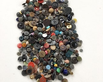 Vintage Buttons Antique Sewing Collectibles Craft Supply