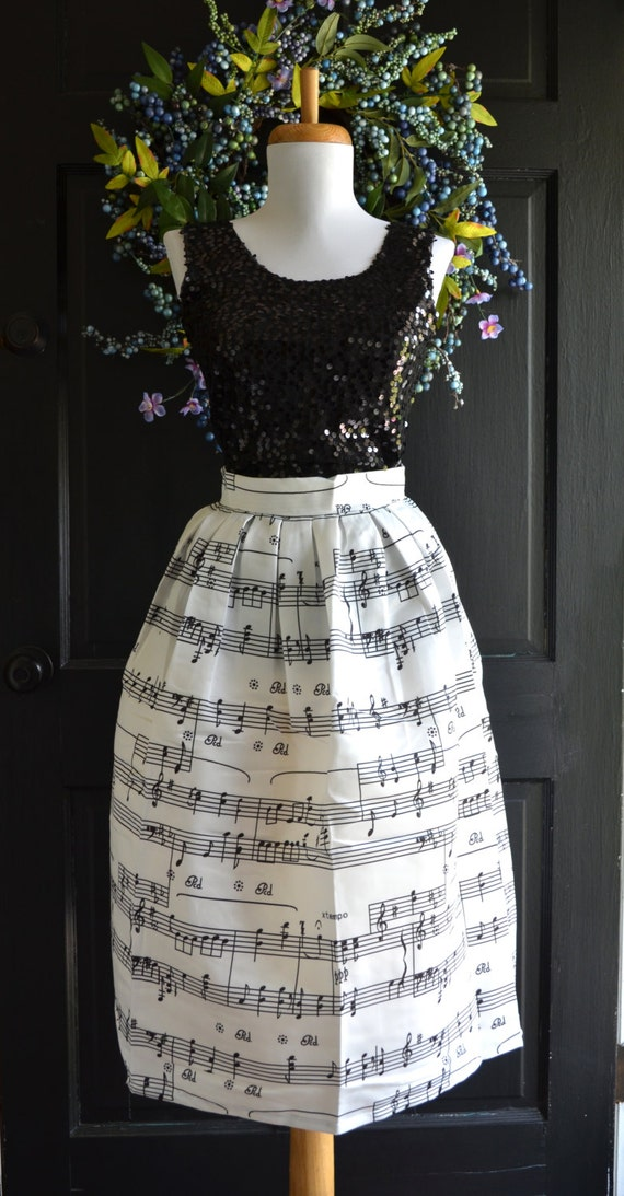 Sheet music skirt piano skirt musical notes skirt party Wedding dress piano sheet