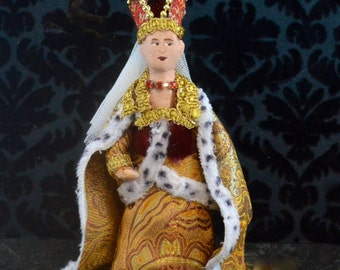 Historical Character Doll Isabeau of Bavaria Miniature Art