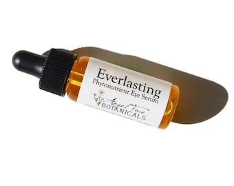 Everlasting - Organic Phytonutrient Eye Serum w/ Argan, Squalene, Evening Primrose - Natural, Organic, and Vegan Skincare - 1/4 oz
