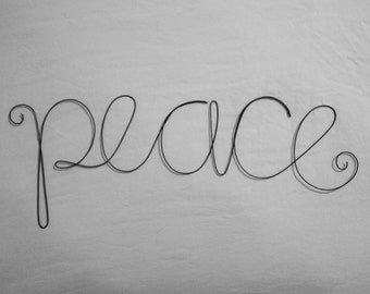 PEACE Wire Word Wall Hanging Art