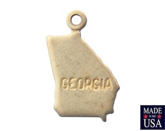 Raw Brass Tiny Georgia State Charm Drops (6) chr201KK