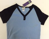 Never worn 90s Vintage TODD OLDHAM cropped sporty pullover cotton sweater