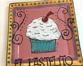 Ceramic Cupcake Plate