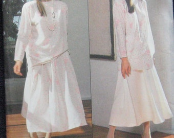 Very Easy Vogue Top Skirt Pattern 992
