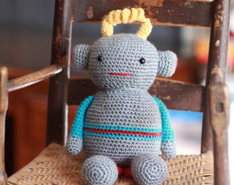 Little Robot, Plush Toy, Stuffed Animal, Crochet Baby Gift