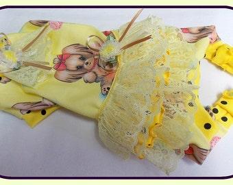 Pet Clothing To Order Paulines Fashions Original Ruffled Bum Maltese,  Yorkie Jammies with Spoonflower Fabric