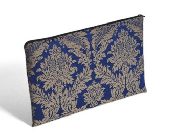 SALE! Cover for Asus ZenBook VX305, Microsoft Surface Book Case, Sleeve, Navy Blue Ornaments Upholstery Fabric Bag with Zipper