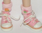 Short Pink Strawberry Socks For Blythe...One Pair Per Listing...
