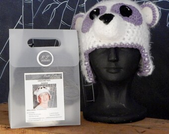 Furry Heads Panda Make It Kit