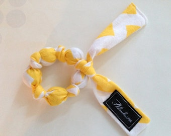 Yellow Chevron Teething Ring