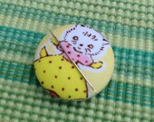 Cat Needle Minder Cat Needle Keeper Cat Needle Keep Magnetic Needle Keep Embroidery Supplies Sewing Supplies Milk Flower Sugar Pin Keep