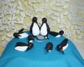 Penguins swimming cake topper