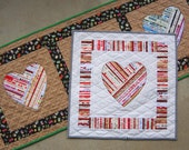 PDF Pattern You're Mine! Selvage Heart Applique Quilt Pattern from Quilts by Elena Full Sized Templates and Clear Instructions