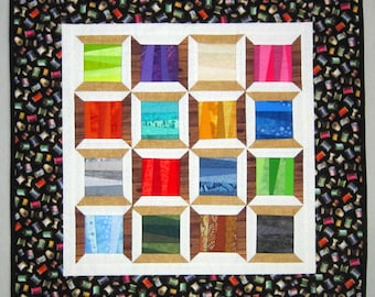 Cotton and Wood SPOOL Quilt from Quilts by Elena