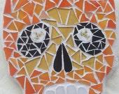 Skull Art Mosaic Pique Assiette Skull Series Number 28 OOAK