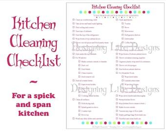 Home organization checklist pdf printable basic organizing for Kitchen remodel checklist pdf