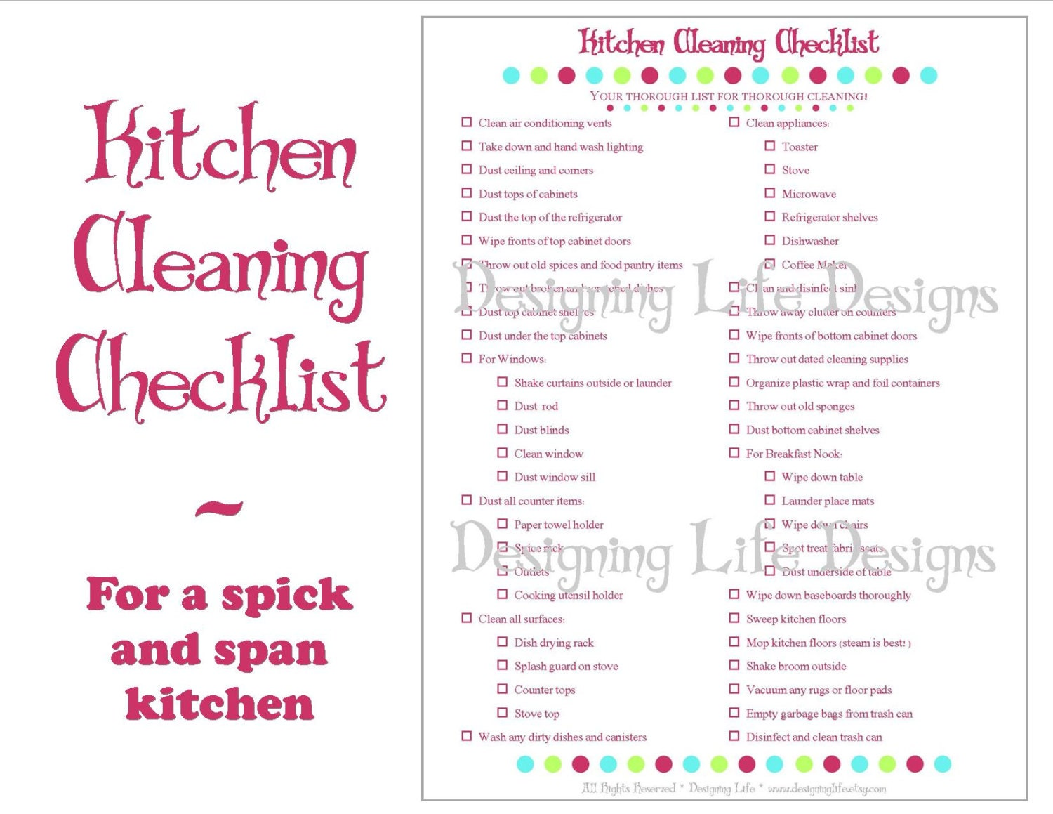 Weekly Cleaning Checklist Template Zrom