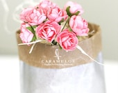 30 Pink Blush Millinery paper flowers