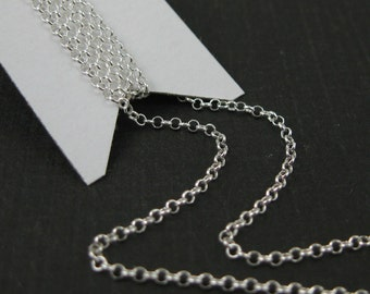 Sterling silver, Rhodium Plated, 22K Gold or Rose Gold Rolo Chain-Unfinished Bulk Chain-1mm Tiny Rolo Chain-Wholesale (5 feet) -SKU: 101016