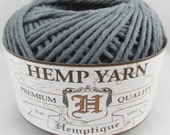 GRAY Hemptique Cotton Hemp Yarn - One Ball