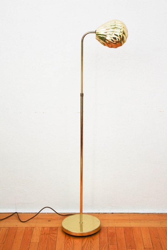 Vintage Brass Adjustable Clam Shell Floor Lamp Alsy Lamp