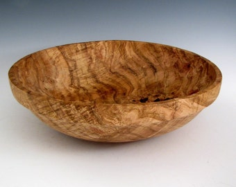 Rustic Large Oak Burl Wood Turned Bowl or Platter - Artistic Bowl - Lathe Turned - Wood Turning - Houswarming Bowl - Men or Women