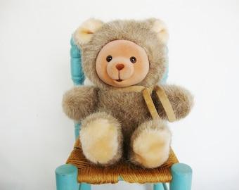 vintage cubby bear russ berrie plush teddy bear baby korea
