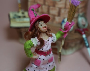 The Little Witch ooak 1/12 scale miniature doll dollhouse CWPoppets