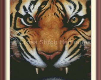 Eyes of the Tiger Cross Stitch Pattern