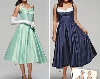 Vintage 1950's Party Dress Pattern Simplicity 1155 Size 10-18