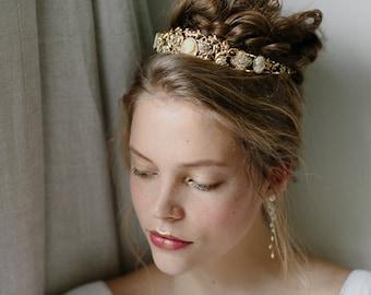 Wreath and tiara wedding cameo crown - Coronet no. 2069