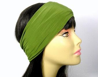 Olive Green Head Wrap Green Head Wrap Olive Green Headband Boho Head Wrap Mans Head Wrap Mens Head Wrap Workout Head Wrap Workout  Turban